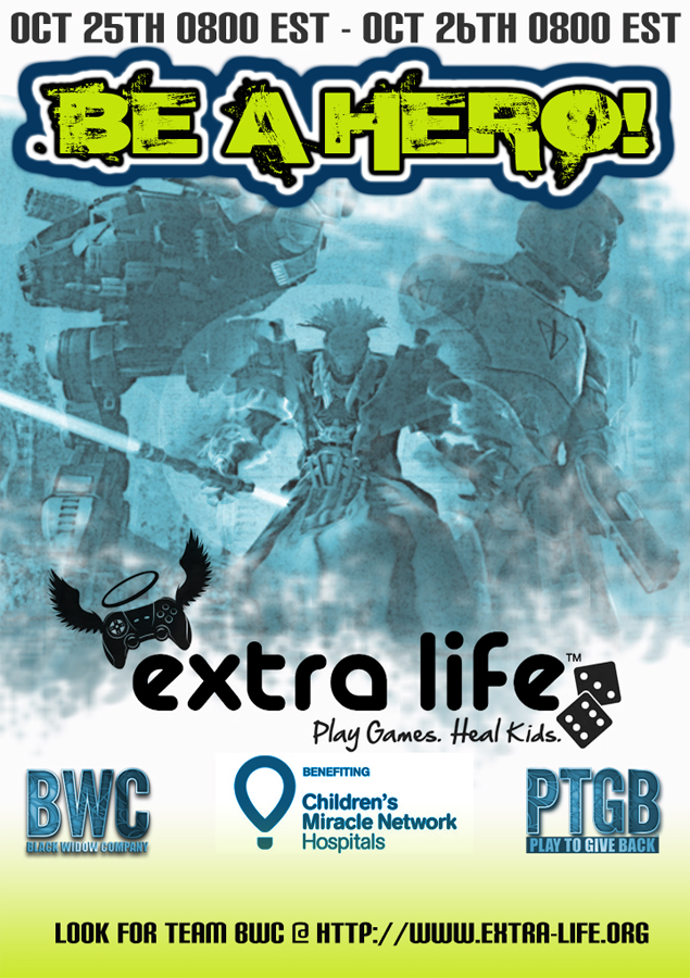 Publicity Poster for the Be A Hero Fundraising Event
